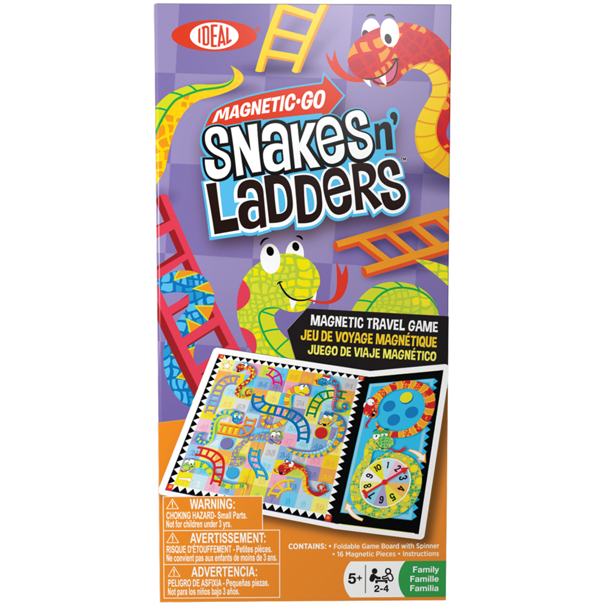 Magnetic Go Travel GameSnakes N' Ladders