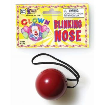FLASHING CLOWN NOSE 12 PACK - Clown Noses For Sale