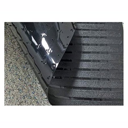 NK HOME Clear Vinyl Plastic Floor Runner/Protector for Low Pile Carpet - Non-Skid Decorative Pattern ()