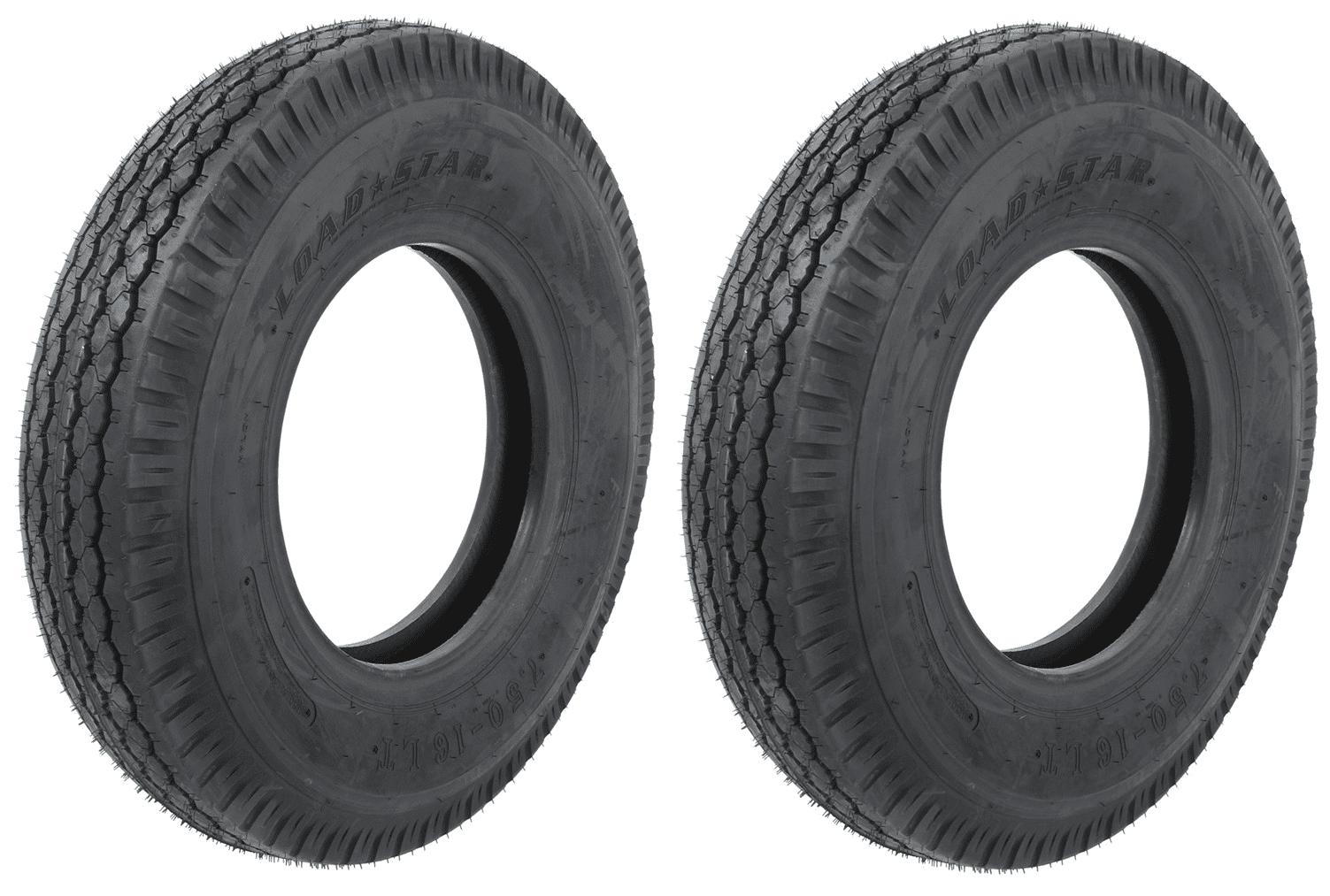 """2-Pack Light Truck Tire 7.50-16LT 7.50-16 LT Loadstar E For 16"""" x 6"""" Rim by eCustomrim"""