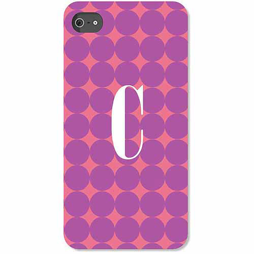 Personalized Purple Polka Dots iPhone 4 Case