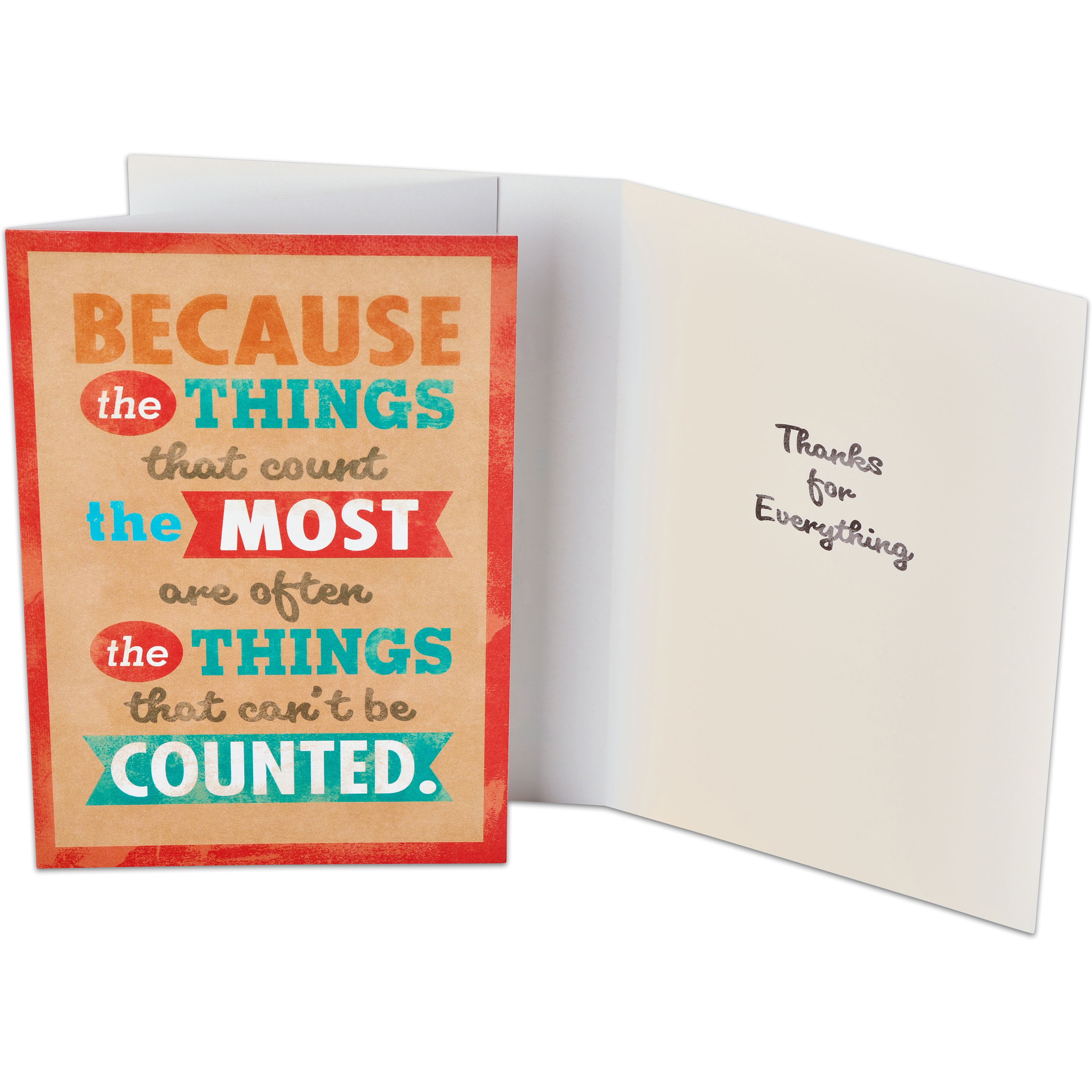 American Greetings Thanks for Everything Thank You Card Pack, 6ct