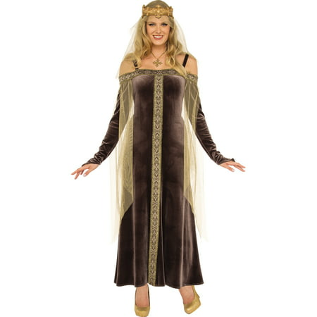 Renaissance Queen (Lady Grey Women Brown Medieval Renaissance Queen Halloween)
