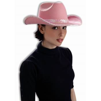 DLX COWGIRL HAT W/PNK SEQUIN for $<!---->