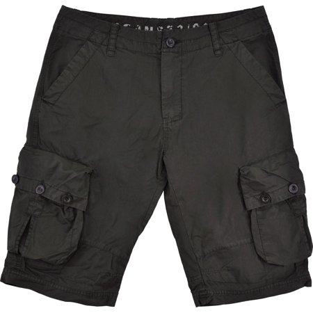Mens Military Style Black Cargo Shorts #616s Size 30 ...