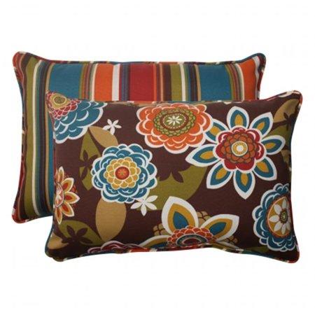 Pillow Perfect 499918 Annie Westport Reversible Oversized Rectangle Throw Pillow (Set of 2) - image 1 de 1