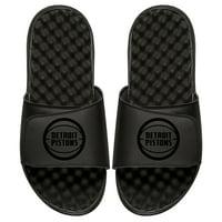 Detroit Pistons ISlide Youth Tonal Slide Sandals - Black