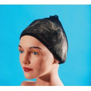 Star Power Hair Stay Net Supply Costume Wig Cap, Black, One Size
