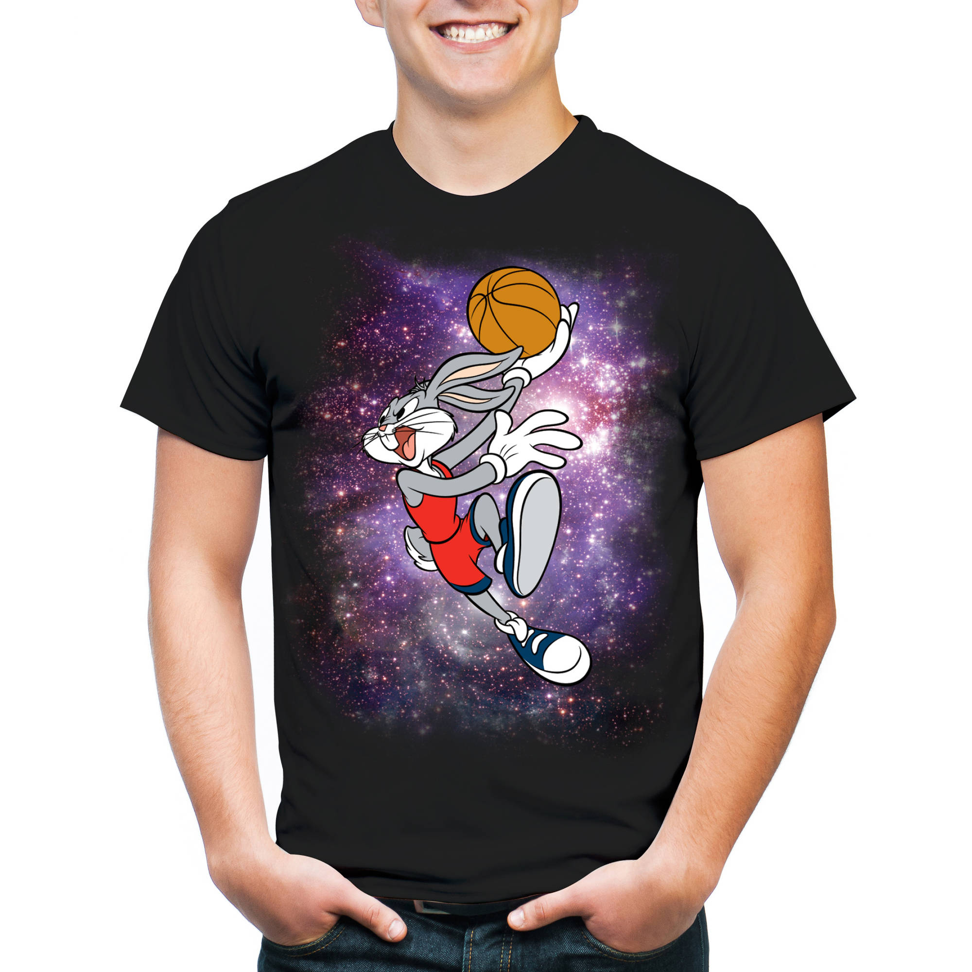Bugs Bunny Basketball In Space Men's Tee