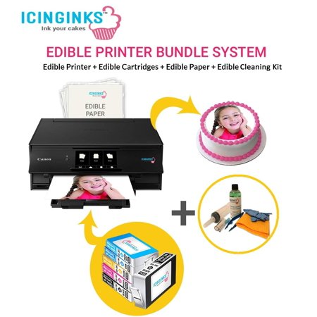Icinginks Latest Edible Printer Bundle – Includes 50 Wafer Sheets &  Cleaning Kit