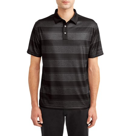 Ben Hogan Men's Performance Short Sleeve Fading Stripe Golf Polo (Lake Golf Shirt)