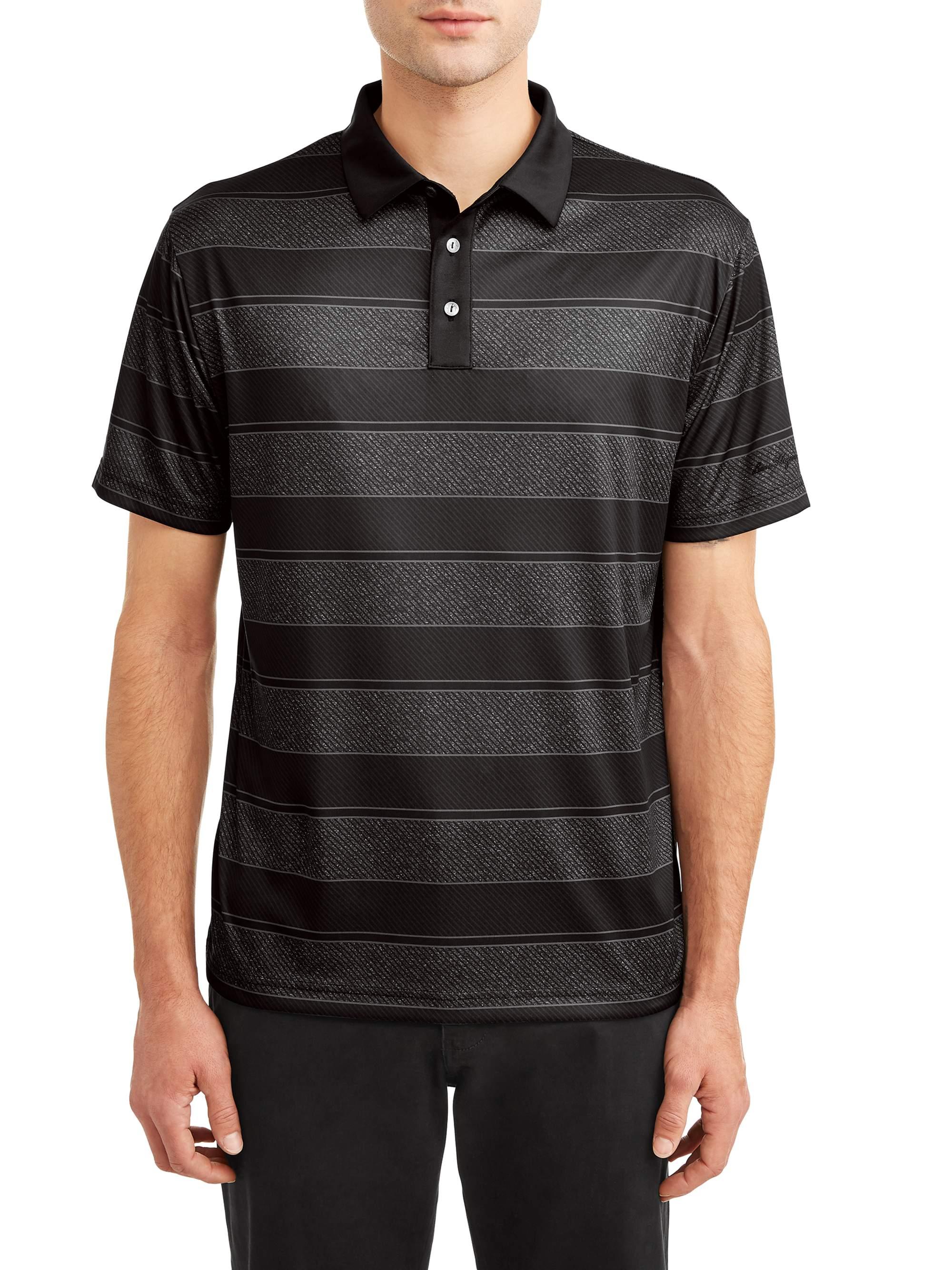 Men's Performance Short Sleeve Fading Stripe Golf Polo Shirt
