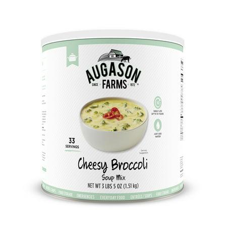 - Augason Farms Cheesy Broccoli Soup Mix 3 lbs 5 oz No. 10 Can
