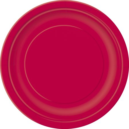 Team Spirit Foootball Super Bowl Party 9In Dinner Plates  Red  12 Pack