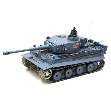 2.4Ghz Radio Remote Control 1/16 German Tiger I Airsoft Battle Tank w/Sound & Smoke (Upgrade Version w/ Metal Gear & Tracks) RC RTR thumbnail
