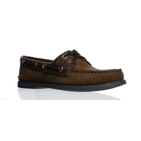 Sperry Top Sider Mens Authentic Original Brown Boat Shoes Size