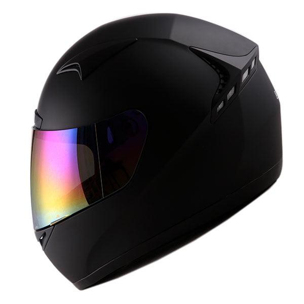 1STORM MOTORCYCLE BIKE FULL FACE HELMET BOOSTER MATT BLACK