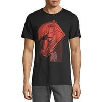 Star Wars The Rise of Skywalker Men's and Big Men's Men's Red Trooper Helmet Graphic T-Shirt