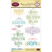 """JustRite Papercraft Clear Stamps 4""""X6""""-Rejoice And Be Glad"""