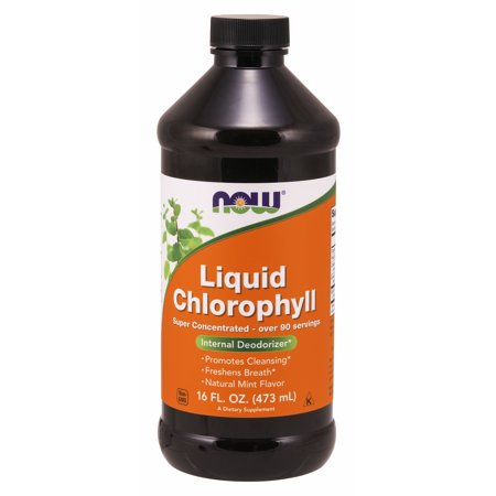NOW Supplements, Chlorophyll, Mint, Liquid, 16-Ounce Chlorofresh Liquid Chlorophyll Mint