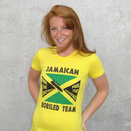 Olympics Costume (Jamaican Bobsled Team T-Shirt Cool Runnings Olympics Bobsleigh Costume)