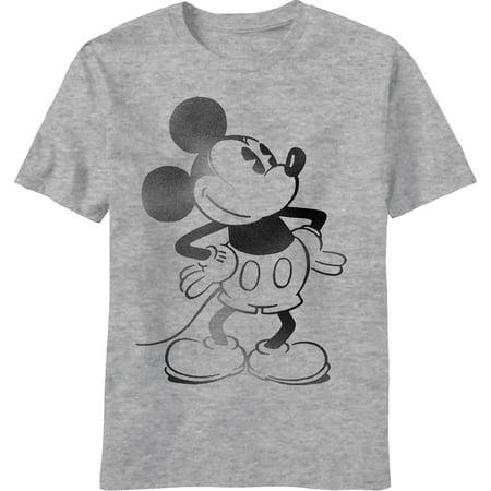 5b56b82d7 Disney - Disney Stencil Mickey Mouse Portrait Adult T-shirt - Walmart.com