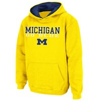 Michigan Wolverines Stadium Athletic Youth Stack II Hoodie - Maize