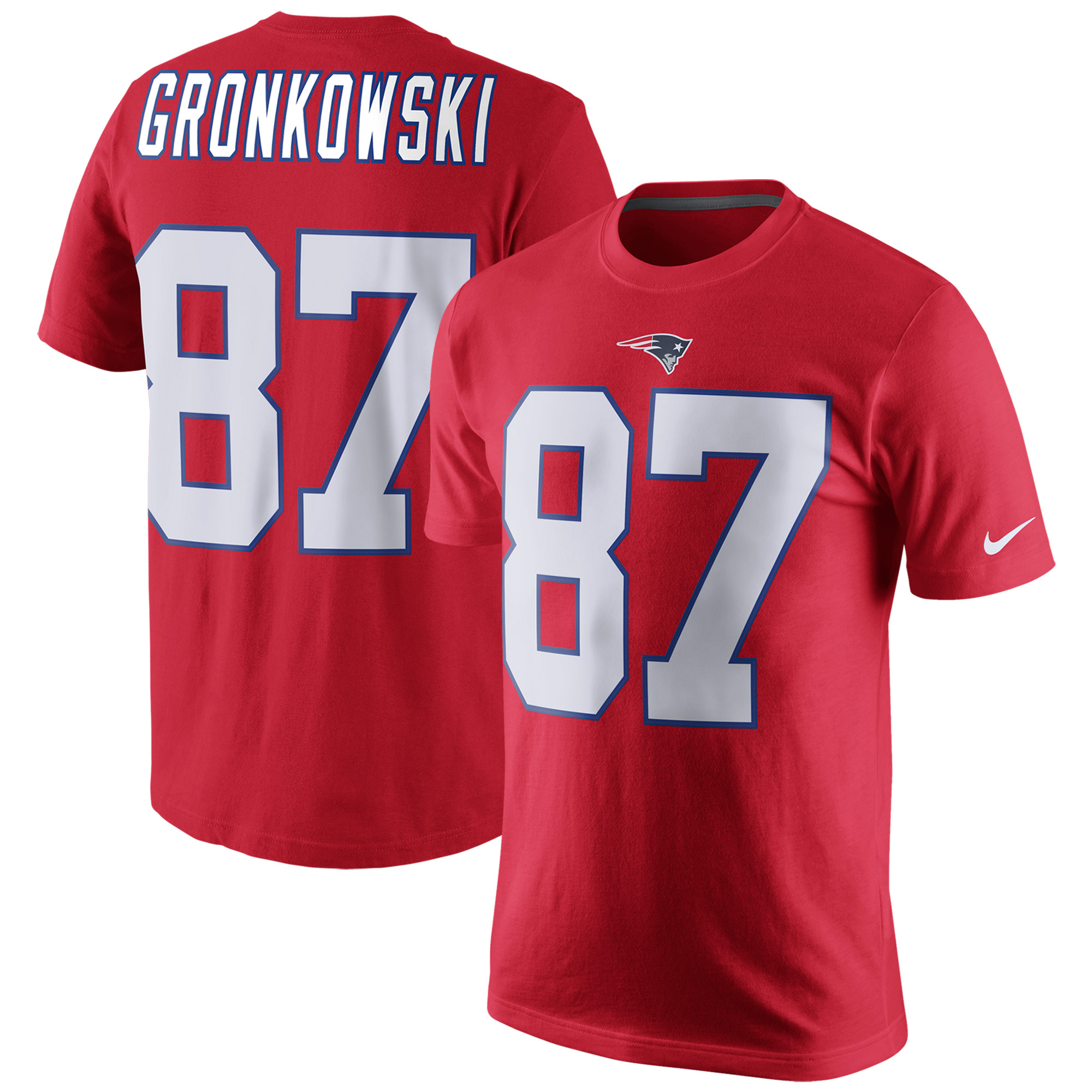 Rob Gronkowski New England Patriots Nike Player Pride Name & Number T-Shirt - Red
