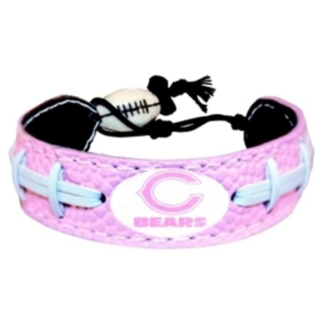 Chicago Bears Pink Football Bracelet