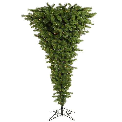 Vickerman Upside Down 9' Green Artificial Christmas Tree with 1000 Clear Lights