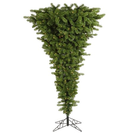 Vickerman 5.5' Green Upside Down Artificial Christmas Tree with 250 Warm White LED Lights ()
