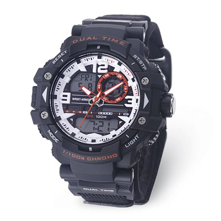 Men's C41 Multifunction Watch, White And Orange Dial, Black V XWA5387 ()