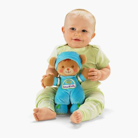 Fisher-Price Brilliant Basics Babys 1st Bear, Promotes Social/Emotional Development o Cuddly doll enhances baby's sense of security &Walmartfort. By