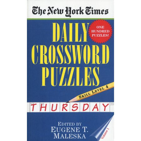 The New York Times Daily Crossword Puzzles: Thursday, Volume 1 : Skill Level (Musically A Double Whole Note Crossword Clue)