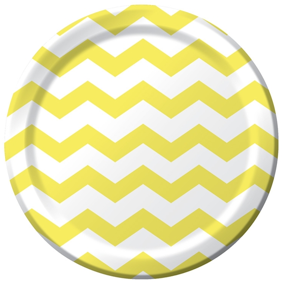 Mimosa Chevron Stripe 9 inch Lunch/Dinner Plates (8 ct)