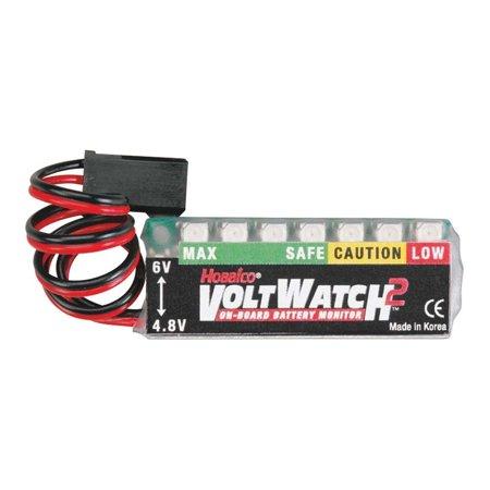 Voltwatch 2 4 8V 6V Rx Monitor  6V Heavy 1 2 48V Voltwatch Monitor Fiberglass Tape Rx X5 By Hobbico