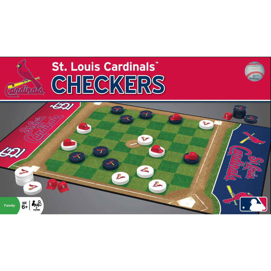 MLB St. Louis Cardinals Team Checkers