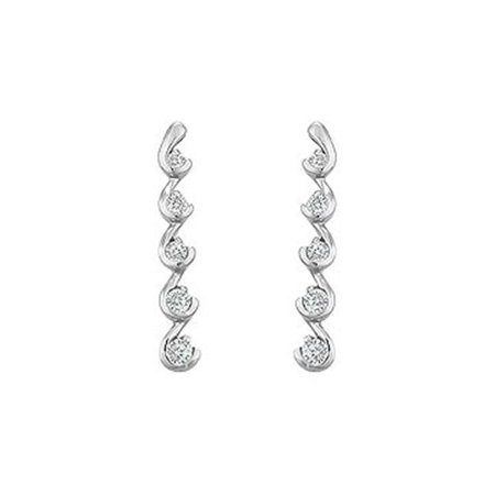 Diamond Journey Earrings : 14K White Gold - 0.50 CT Diamonds