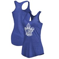 Toronto Maple Leafs Women's Distressed Team Primary Logo Tri-Blend Tank Top - Blue