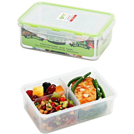 217146cff256 Bento Lunch Box Food Storage Containers (2 Pack) for Adults, Kids ...