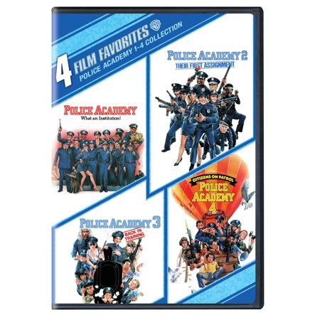 4 Film Favorites: Police Academy 1-4 (DVD) - Police Academy Graduation Gifts