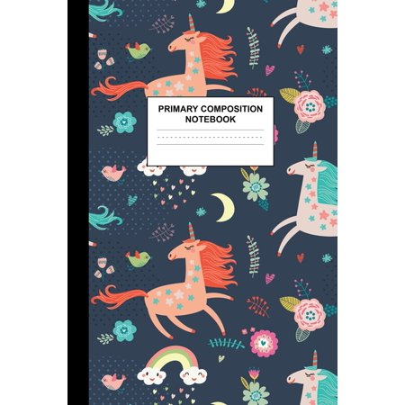 Halloween Writing Paper For Kindergarten (Primary Composition Notebook : Writing Journal for Grades K-2 Handwriting Practice Paper Sheets - Lovely Unicorn School Supplies for Girls, Kids and Teens - Preschool, Kindergarten, 1st and 2nd Grade)