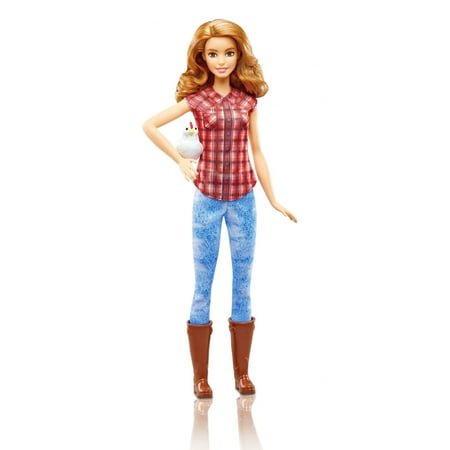 Barbie Careers Farmer Doll with Red Plaid Top & (Barbie And The Diamond Castle Alexa Doll)