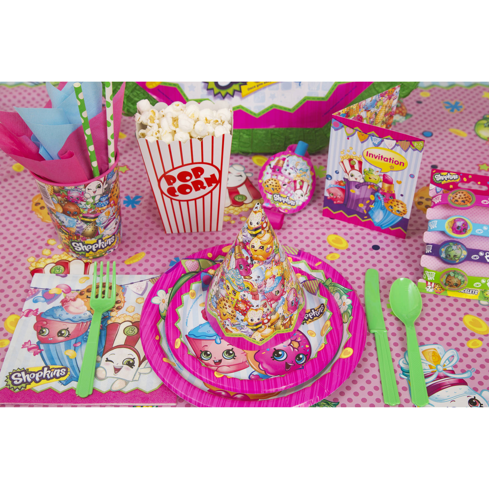 Fabulous Shopkins Cake Topper And Birthday Candles Walmart Com Walmart Com Personalised Birthday Cards Bromeletsinfo