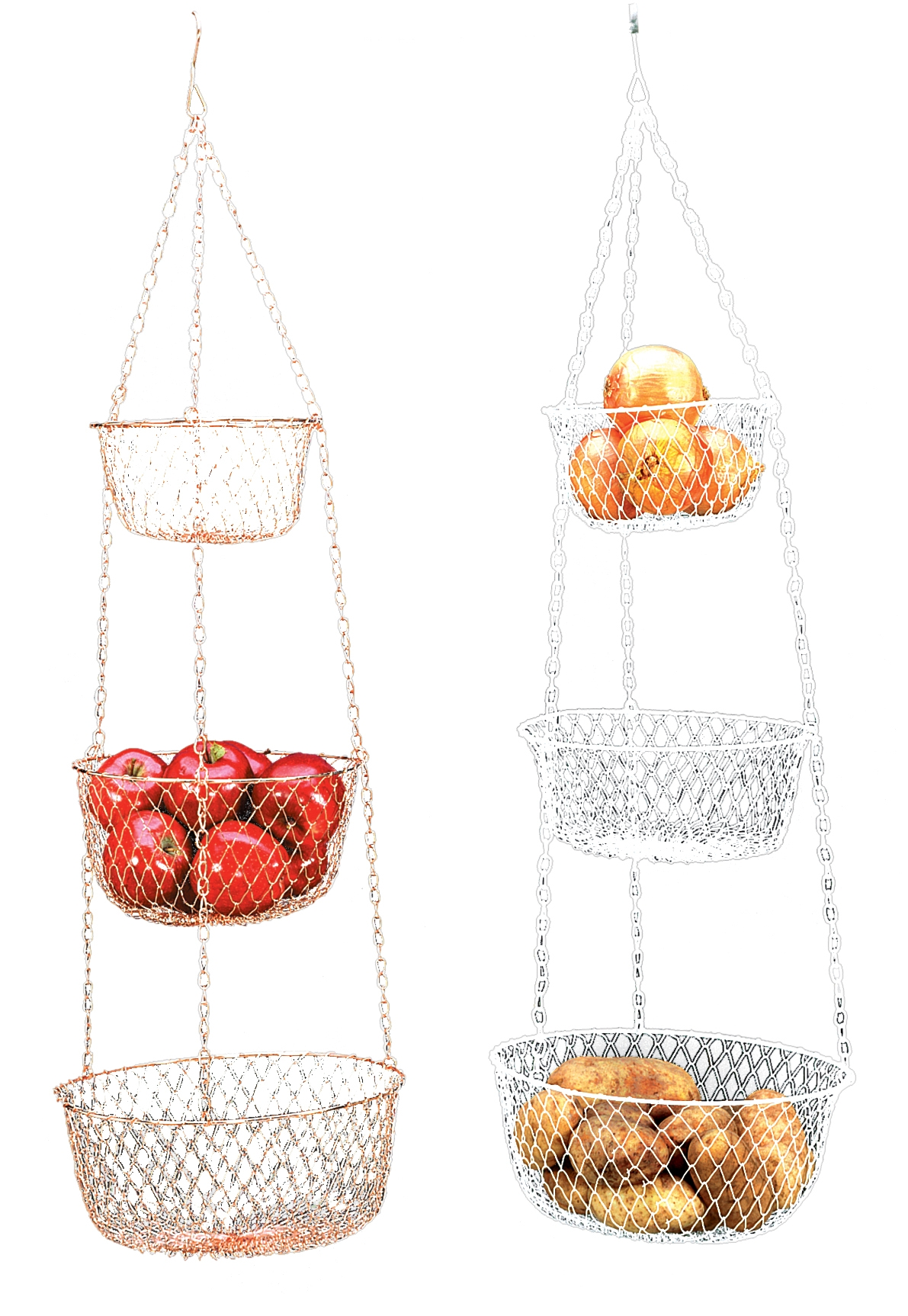 Hanging 3 Tier Fruit And Vegetable Basket   Color May Vary