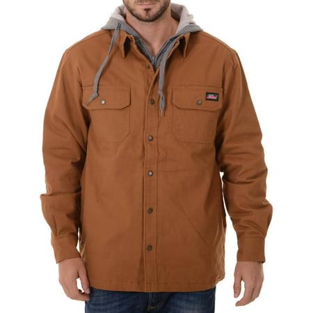 Big men 39 s canvas shirt jacket for Dickies big tex shirt