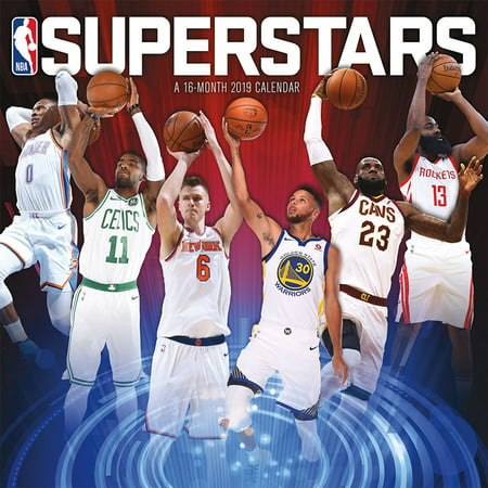 2019 NBA Superstars Wall Calendar