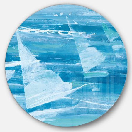 Designart 'From the Shore I' Traditional Metal Circle Wall Art - image 3 de 3