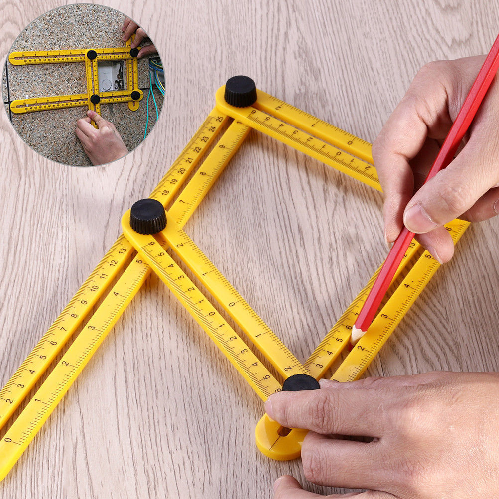 2 PACK Amenitee Universal Angularizer Ruler Multi Angle Measuring Tool Handymen by