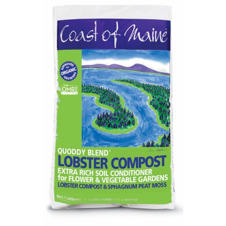 2PK Quoddy Blend CUFT Lobster Compost Extra Rich Soil Conditioner For Flower & Vegetable
